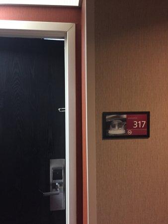 Hampton Inn St. George: Door to room 317