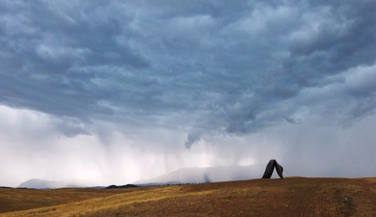 Fishtail, MT: Rainstorm coming to Tippet Rise!