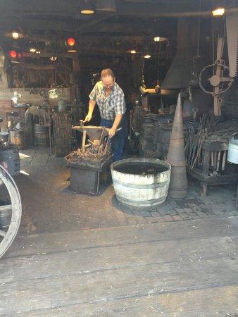 Buena Park, CA: Blacksmith at work
