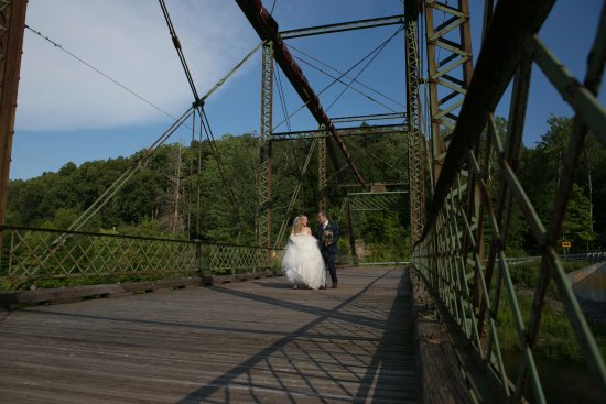Ramada Rock Hill at Sullivan Center: Allyse Pulliam Photography: Denniston Hill Truss Bridge, great for photos or a wedding ceremony!