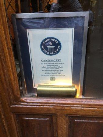 Restaurant Botin: World Oldest restraunt