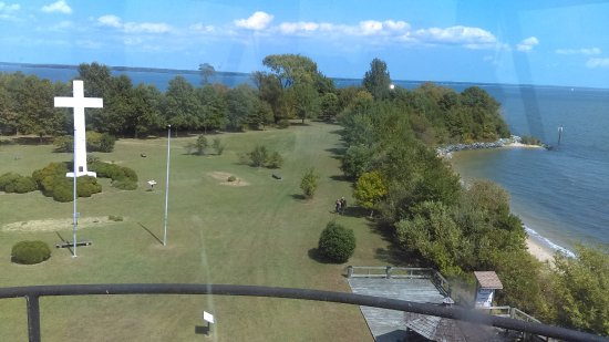 Coltons Point, MD: View of the island from the lighthouse.