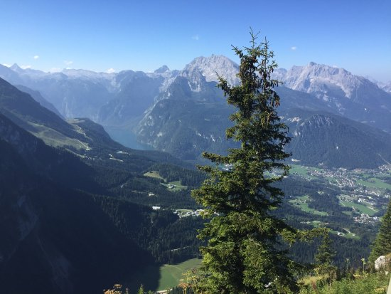 The Eagle's Nest : Looking down on Berchtesgaden and Konigsee