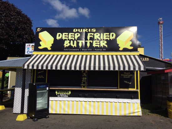 Puyallup, WA: Deep fried butter - Heart attack on a plate