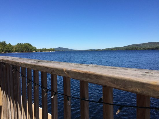 Greenville Junction, ME : View of Moosehead Lake from Kelly's Landing deck.