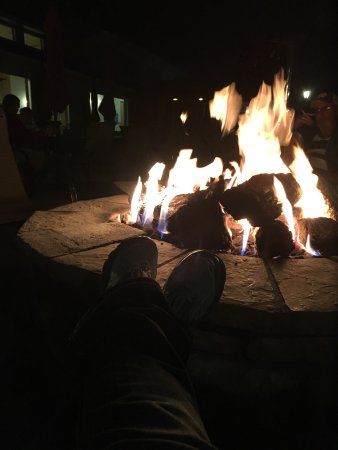 Woodland Park, CO: Enjoying the fire pit