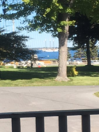 Cape Vincent, NY: The view from the back patio