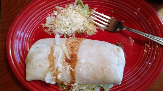 San Leandro, CA: Shredded beef burrito