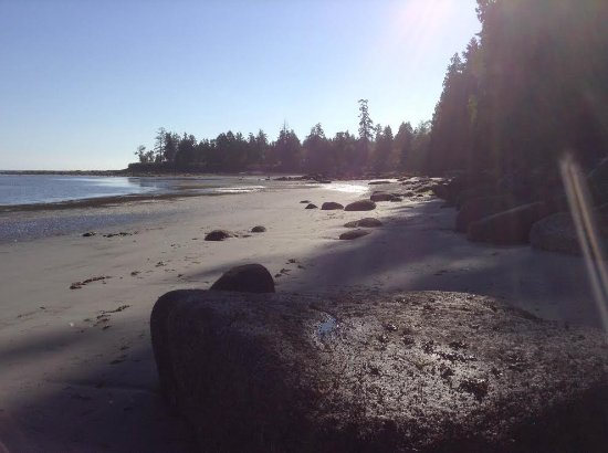 Gabriola Island, Kanada: The sandy part of the beach