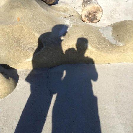 Gabriola Island, Canada: Silhouettes on the sandstone