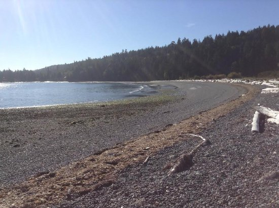 Gabriola Island, Kanada: The rocky end of the beach