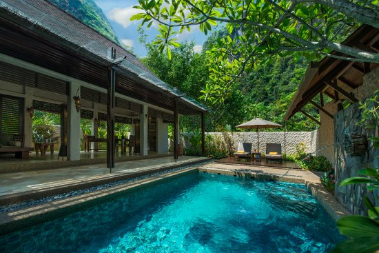 The Banjaran Hotsprings Retreat : Plunge pool in the Garden Villa at The Banjaran