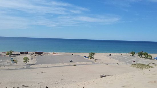 Bridgman, MI: view from the top of the dune..worth the pain...lol..