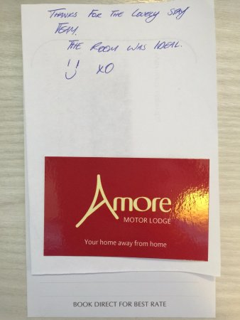 Amore Motor Lodge: Guest's written compliments