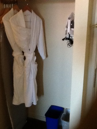 The Thompson Hotel and Conference Centre: Robes, iron, ironing board.