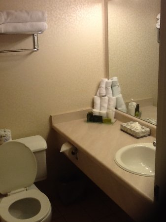 The Thompson Hotel and Conference Centre: Good selection of toiletries with writing large enough to read in the shower.