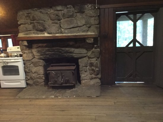 Fort Loudon, PA: Stone fireplace