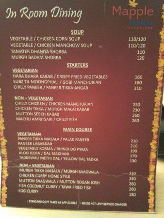 in room dining menu 2 picture of mapple express bangalore rh tripadvisor com in room dining menu inn at biltmore estate in room dining menu holland america