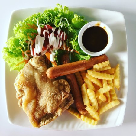 Sitiawan, Malezya: Black Pepper Chicken Chop (The Black pepper sauce not very nice)