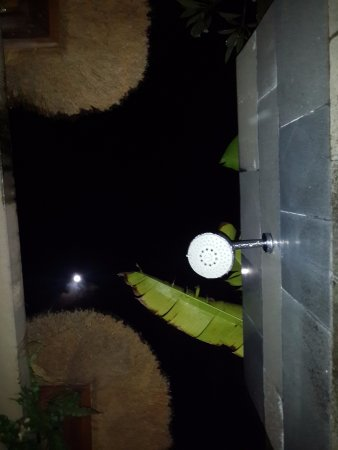 Luwak Ubud Villas: having a bath under full moon...