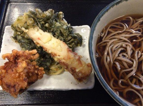 Nirasaki, Japan: かけそば&お好み天ぷら
