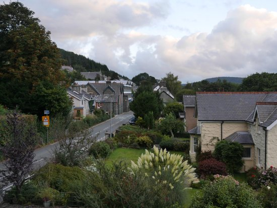 Trefriw, as seen from the room.