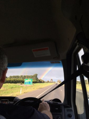 Williamstown, Australia: The rainbow from our bus!