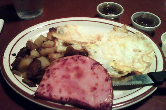 Fernley, NV: gold miners breakfast with ham