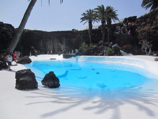 Punta Mujeres, สเปน: Widok na basen
