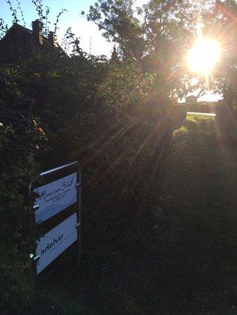 Wieck, Duitsland: Sonnenaufgang vor der Ferienanlage
