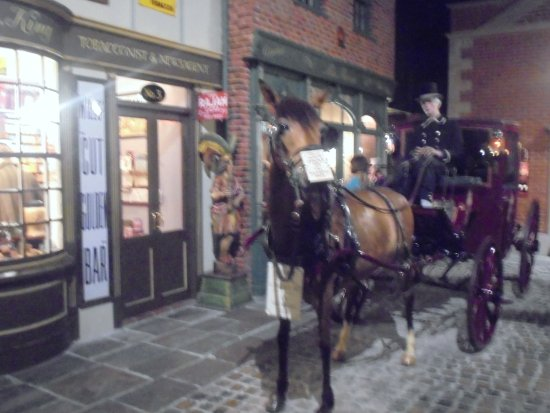Helston, UK: Victorian village horse and carriage