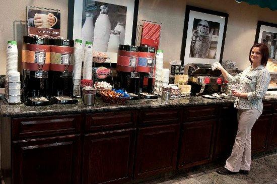 Fairfield, NJ: Breakfast Area with Host