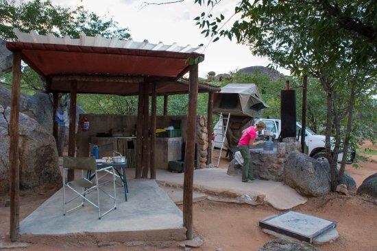 Kamanjab, Ναμίμπια: Our campsite