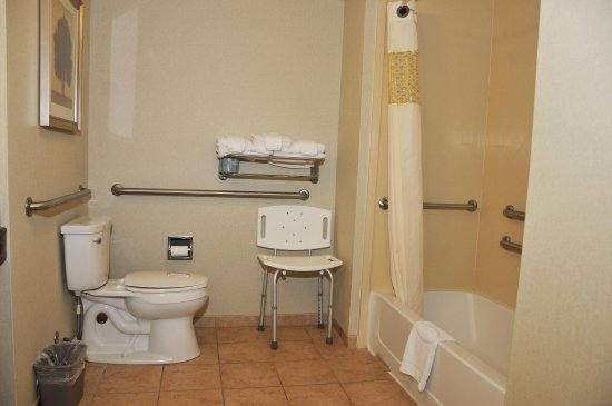 Hampton Inn Clinton: Accessible Bathroom