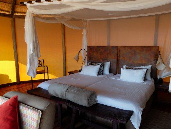 Sesriem, Namibia: Bedroom area of cottage