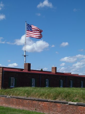 Fort McHenry National Monument: 'new' flag over Ft McHenry