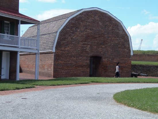 Fort McHenry National Monument: Original buildings abound - this is the ammunitions shed.