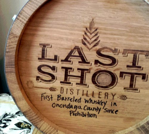Skaneateles, NY: First barreled Whiskey in Onondaga County since prohibition made at Last Shot.