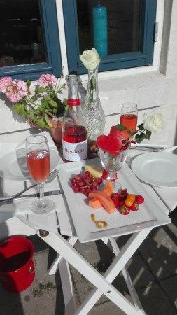 Vejby, Dänemark: Meget romantisk velkomst.