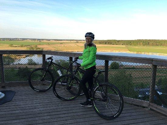 """อุปซอลา, สวีเดน: At a viewing point overlooking """"Uppsalaslätten"""" (The fields of Uppsala)"""