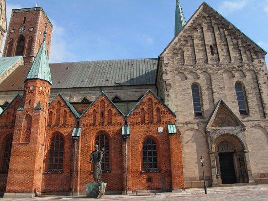 Ribe, Dinamarca: リーベ大聖堂の南側に建っています