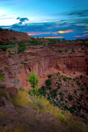 Fruita, CO: View from the rim at sunset