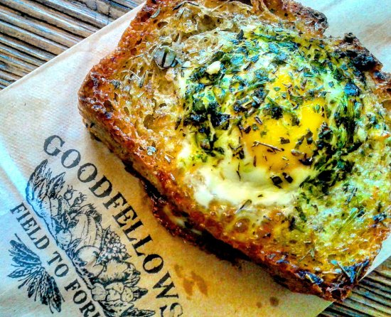Rockwood, Καναδάς: Our Breakfast Toad in a Hole highlights Local Seasonal Ingredients, as well as Free Range Eggs