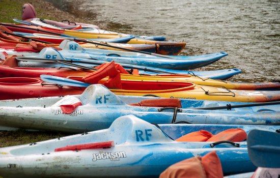 Lebanon, MO: Sit-on Jackson Rivera Kayaks are very comfortable.