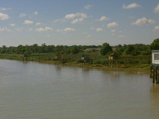 Blaye, ฝรั่งเศส: les carrelets au départ de Lamarque