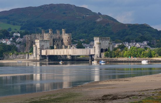Conwy Water Gardens: View of Conwy Castle