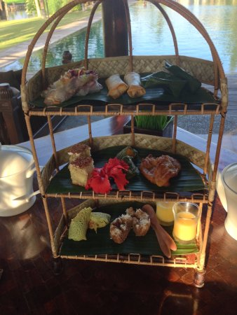The Chedi Club Tanah Gajah, Ubud, Bali – a GHM hotel: Fabulous Afternoon Tea At The Pool
