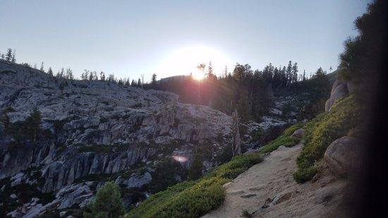 Olympic Valley, CA: Sundown on the Granite Chief