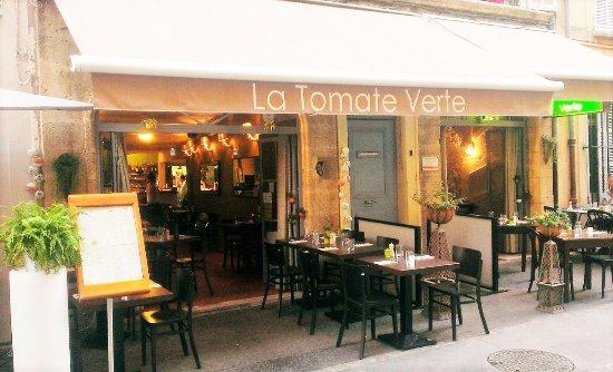 La Tomate Verte : La façade du restaurant