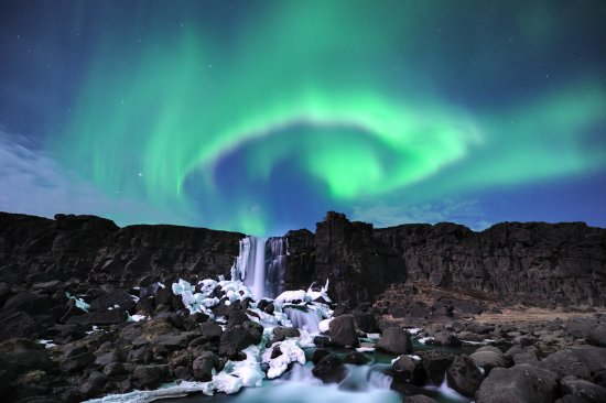 Reikiavik, Islandia: Northern lights in Þingvellir National Park